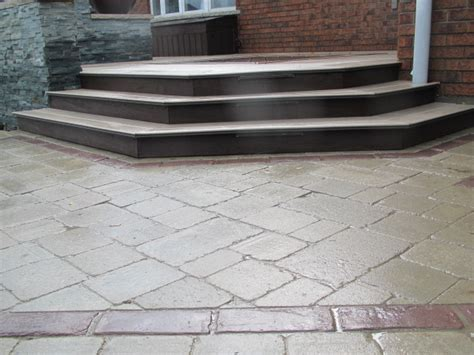 Patio Pavers Guelph Backyard Patio And Landscape Designs In Guelph