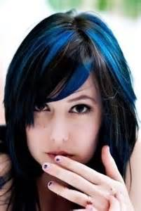 blue new hairdo blue highlights hairstyles hair pinterest highlights