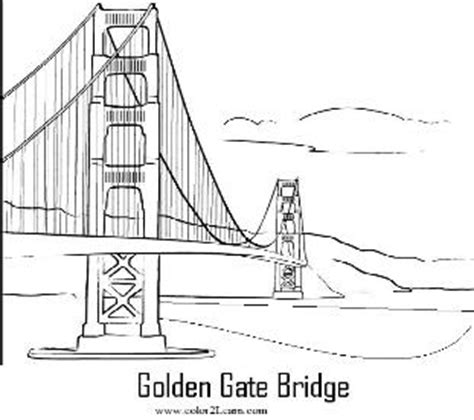 golden gate bridge coloring page and facts