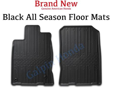 genuine oem honda cr z all season floor mat set 2011 2016