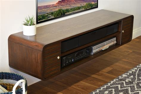 wall tv stand wall mounted floating tv stands woodwaves
