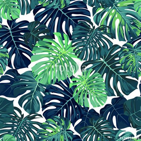 hawaii pattern photoshop quot green vector pattern with monstera palm leaves on dark