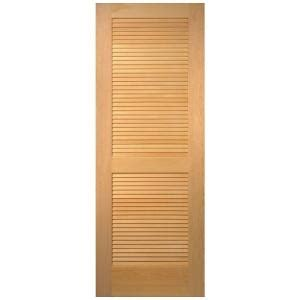 home depot louvered doors interior masonite 36 in x 80 in plantation smooth louver solid unfinished pine interior door
