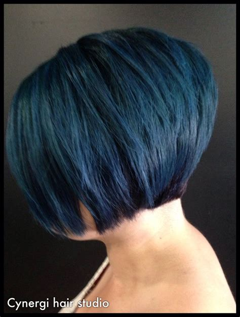 short hairstyles concave concave short bob violet blue hair hair styles
