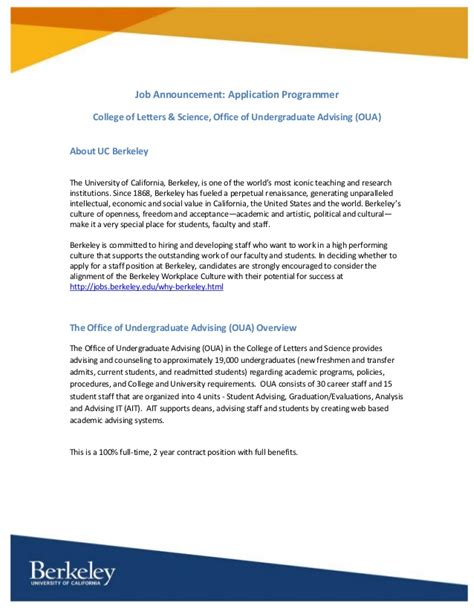 Uc Berkeley Application Uc Application by Application Programmer For Uc Berkeley S College Of Letters