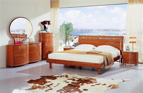 contemporary queen bedroom set modern lacquer bed