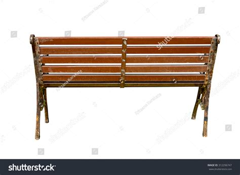 a view from the bench wooden park bench sunlightbench chair garden stock photo