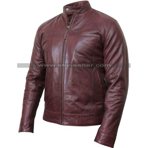 real leather motorcycle jackets men s real leather burgundy bomber motorcycle jacket
