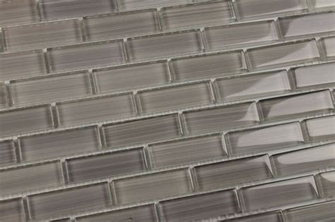 neutral glass tile backsplash neutral gray cool glass subway mosaic tile kitchen