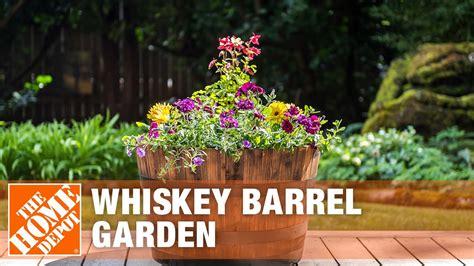 create  whiskey barrel garden  home depot