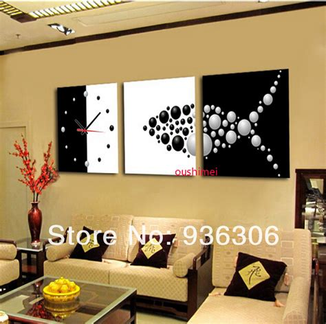 hand painted home decor hand painted abstract clock paintings for living room wall