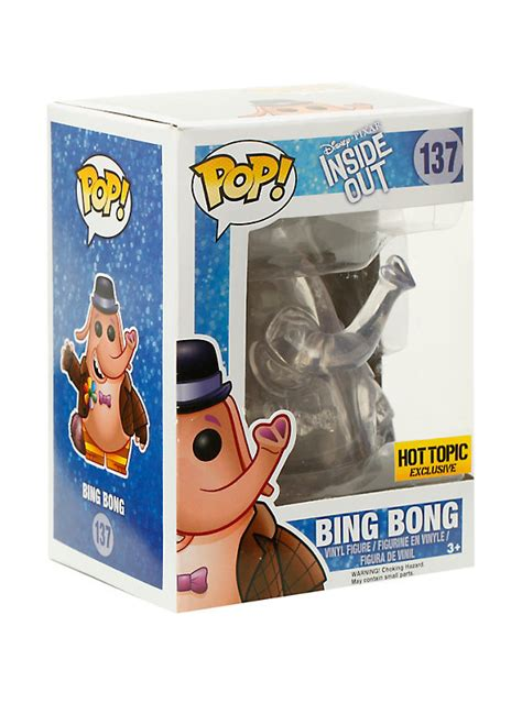 Funko Pop Disney Inside Out Bong Clear Exclusive 137 funko disney inside out pop clear bong vinyl figure topic exclusive topic