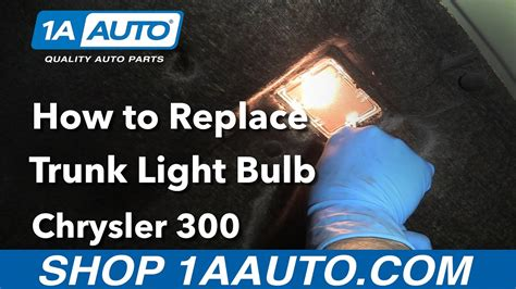 how to replace the light bulb in your climate controls youtube how to replace install trunk light bulb 2006 chrysler 300 youtube