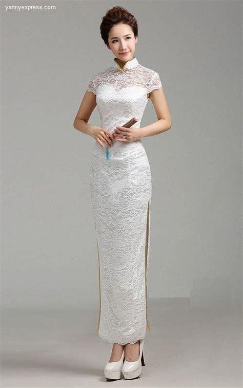 3 4 Sleeve Patterned Qipao 265 best images about wedding qipao cheongsam bridal kwa