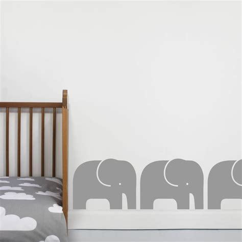 elephant wall stickers set of three elephant wall stickers by chip notonthehighstreet