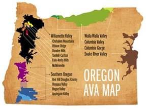 oregon wine map oregon map