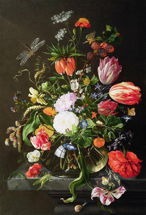 Jan Davidsz De Heem Vase Of Flowers by Still Of Flowers Painting By Jan Davidsz De Heem