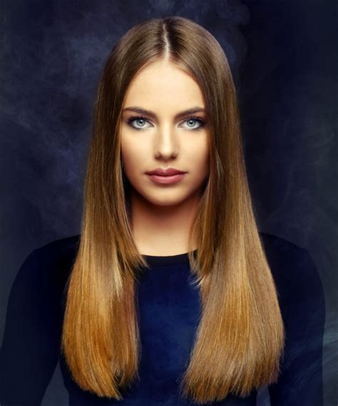 straight blunt haircuts with layers on ends long hairstyles and haircuts for women in 2018