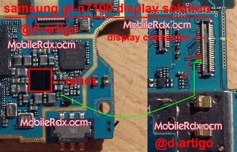 samsung note2 n7100 display light issue solution