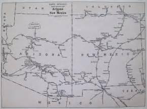 arizona railroad map neat arizona and new mexico railroad map 1960s vintage
