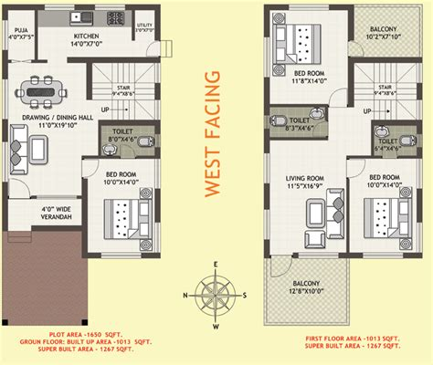 west facing house vastu floor plans home design as per vastu shastra