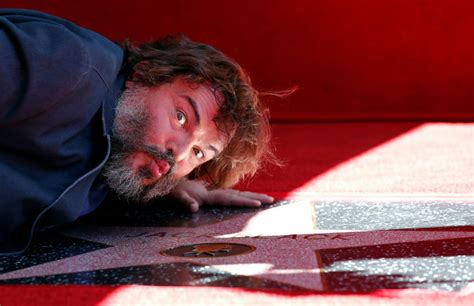 jack black hollywood star speech jack black rips piece of s t trump in walk of fame