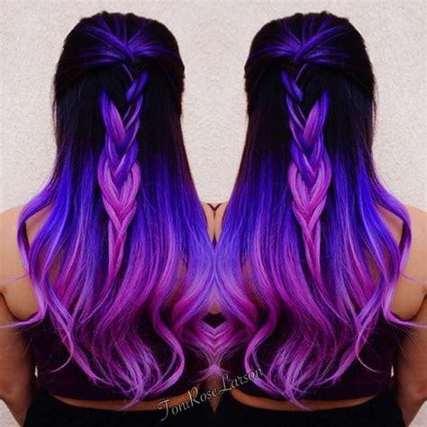 color melt hair styles purple hair purple color melt with violet hair hotonbeauty