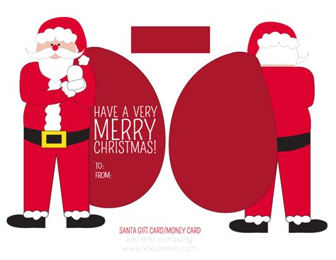 Free Printable Christmas Gift Card Holders - santa money or gift card holder free printable christmas diy pinterest free