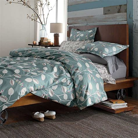 company store comforter the company store organic bedding in blue decoist