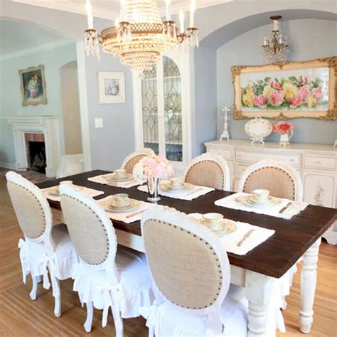 bella french farmhouse dining table  dark top