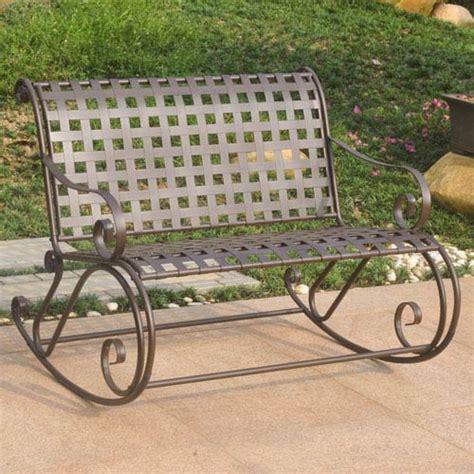 iron rocking bench mandalay iron bench rocker international caravan rocking