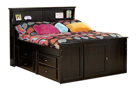 black full bed laguna black full bookcase bed at gardner white
