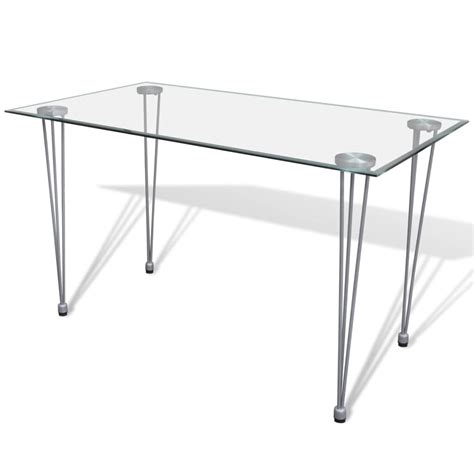 glass dining table images vidaxl co uk transparent glass top dining table