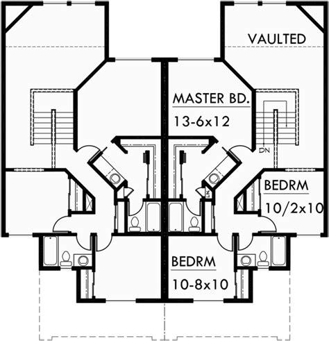 duplex floor plans with 2 car garage duplex house plans duplex house plans with garage d 433