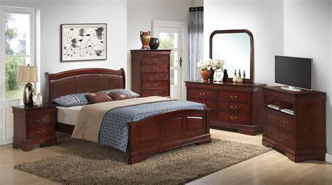 Low Profile Bedroom Furniture Furniture G3100 5 Low Profile With Pu Bedroom Set In Cherry Bedroom