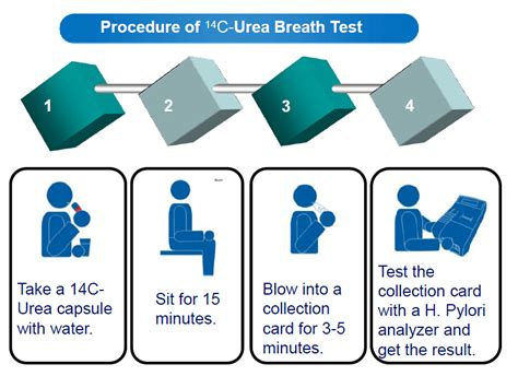ubt test rapid test c14 urea breath test 0 75μci for diagnosing h