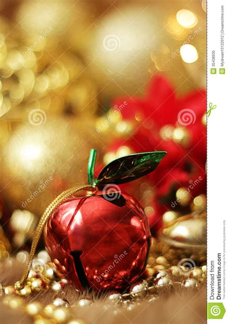 apple christmas bell royalty  stock photo image