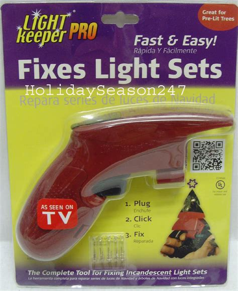 light keeper pro incandescent tree light string set repair fix tool ebay