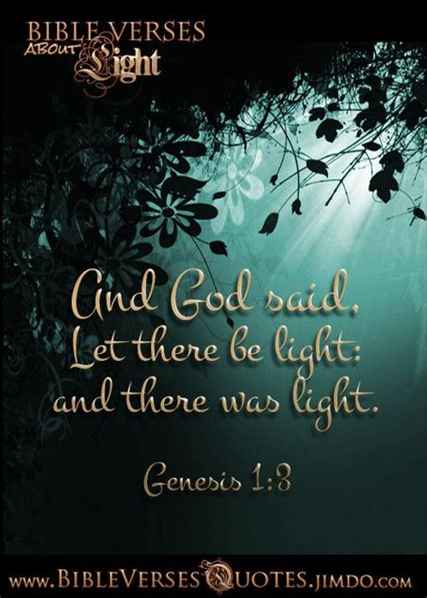 genesis let there be light and god said let there be light and there was light