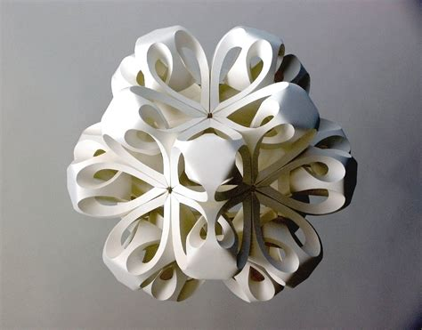 Paper Handicraft - modular sculpture paper by richard sweeney