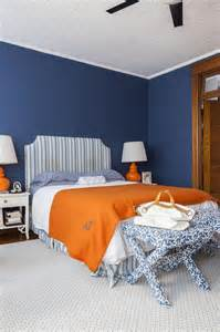 Blue And Orange Bedroom Decor blue and orange bedroom design transitional bedroom