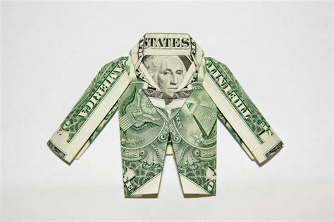 Origami One Dollar Bill - bill jacket dollar bill