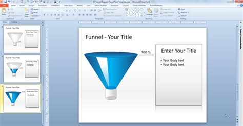 Download Free Editable Charts In Powerpoint Free Powerpoint Funnel Template