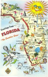 Flower Shop In Miami Fl - vintage florida postcard greetings from the sunshine state
