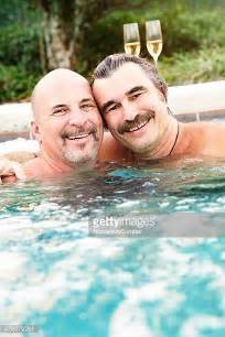 mature bathtub hairy bald men stock photos and pictures getty images