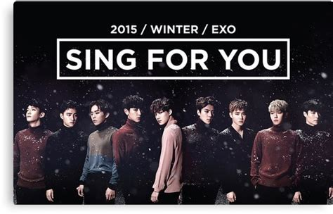 download mp3 exo sing for u quot exo sing for you winter night edition quot canvas prints by