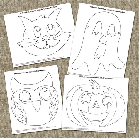 printable halloween masks crafts bnute productions old fashioned halloween party