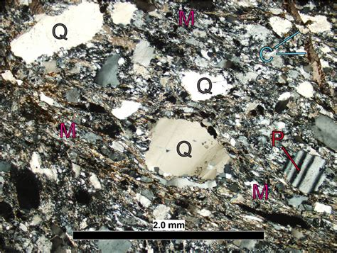 sericite in thin section blue ridge rocks the microscopic view the william mary blogs