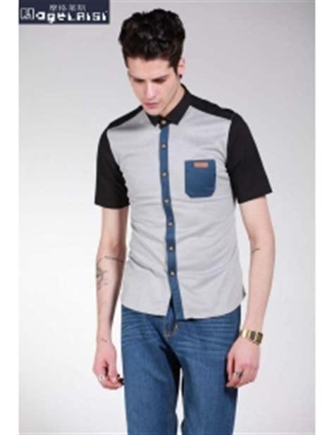 Baju Batik Kemeja Pria Slim Fit Lengan Pendek Keren Kode Ob 320 baju kemeja pria keren
