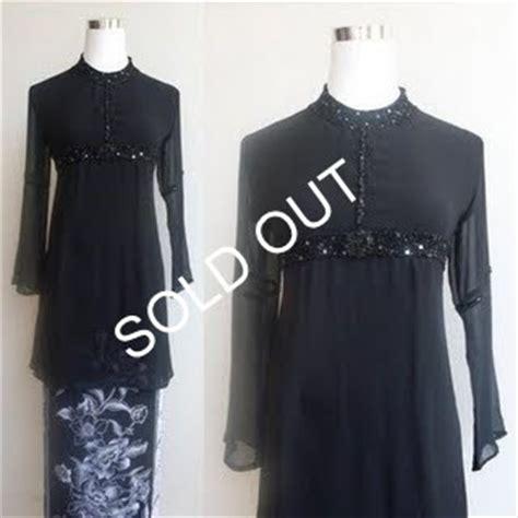 Baju Kurung Hijau Hitam sulam qistina baju kurung azkia mega raya